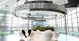 Panneau d'affichage 360° spectaculaire à l'Autostadt Wolfsburg