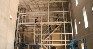 Torre idraulica per gli scarichi presso l'Università di scienze applicate di Esslingen