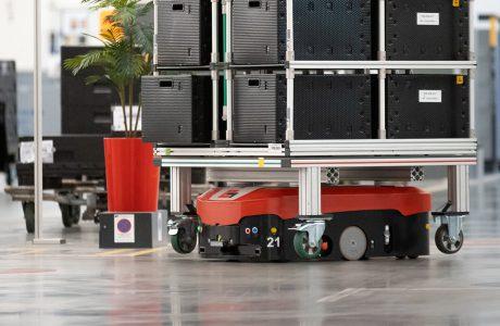 Fahrerlose Transportsysteme im Einsatz bei Audi