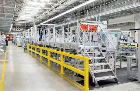 Treppen/Podeste System im Hauptsitz von Miele