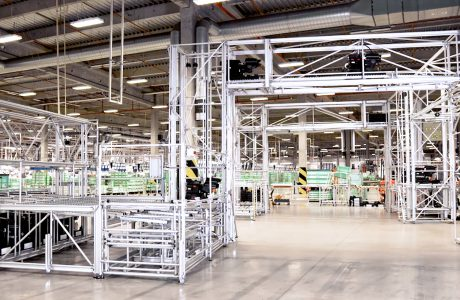 Karakuri/LCA für den Materialtransport in der Kleinwagenmontage