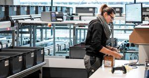 Des postes de travail ergonomiques au magasin logistique chez Haberkorn