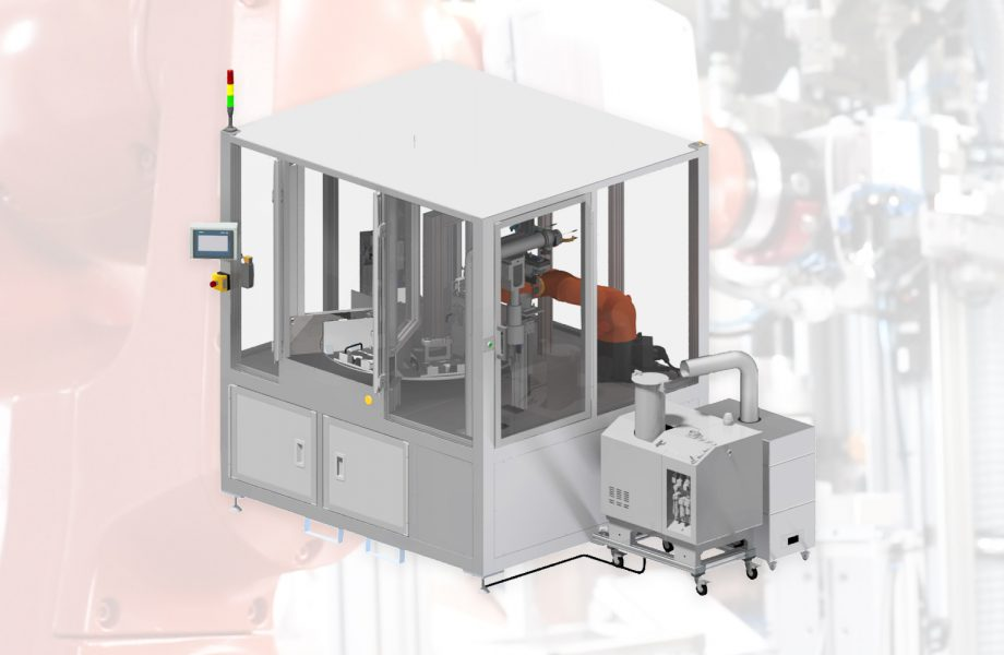 Semi-automated gluing system with IO-Link sensor technology